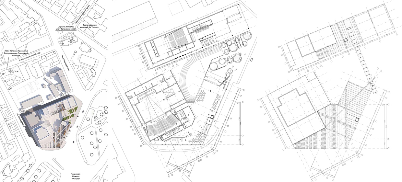 Театр на Таганке. Схема планов. ©DMTRVK.RU