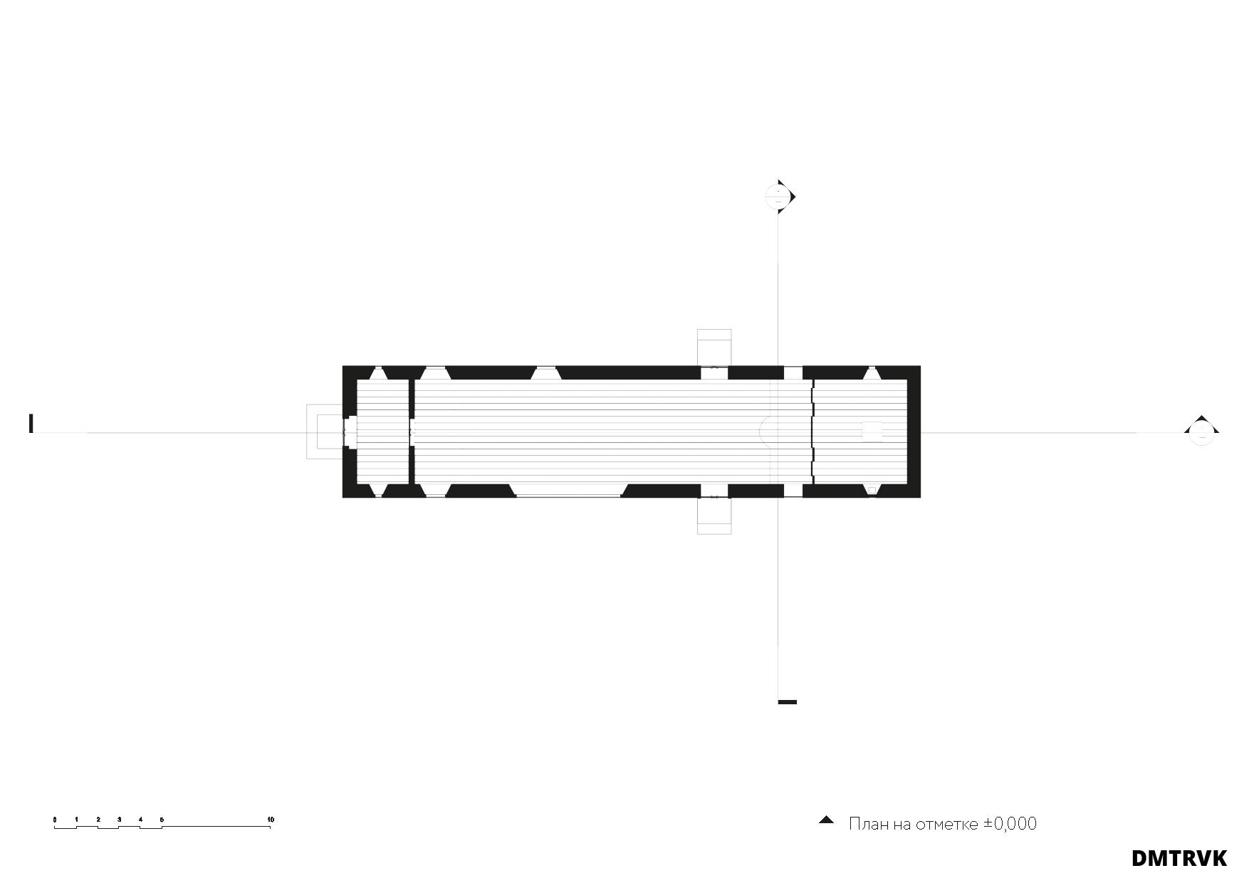 Концепция храма на 170 молящихся. Схема планов. ©DMTRVK.RU