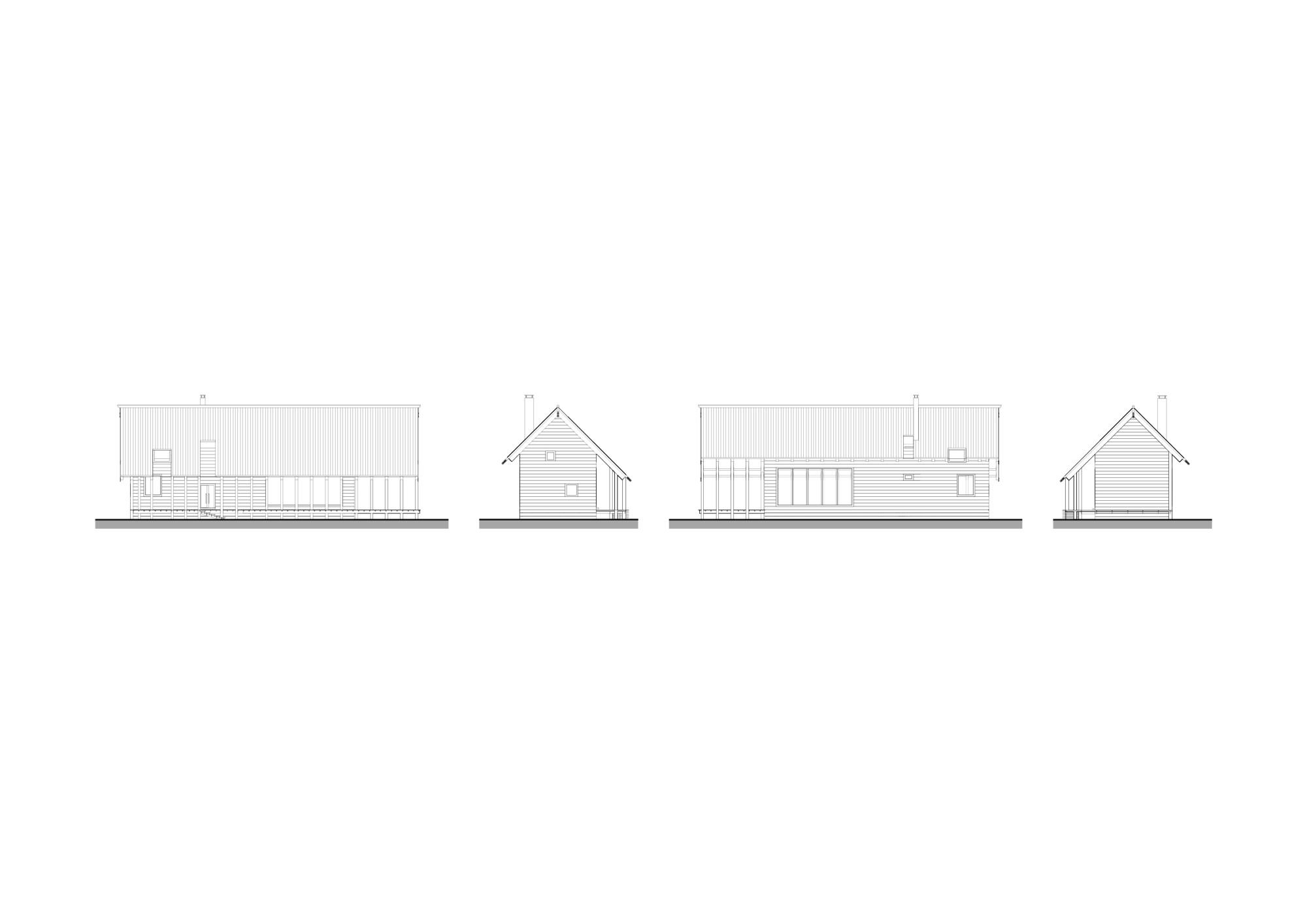 Индивидуальный дом. Архитектурная концепция стандартного малоэтажного жилья и жилой застройки. ©DMTRVK