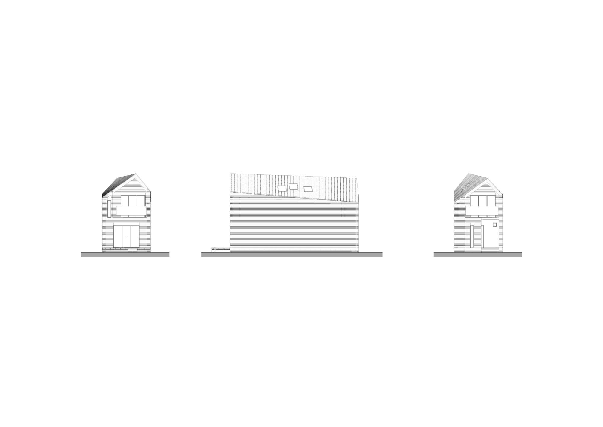 Блокированный дом. Архитектурная концепция стандартного малоэтажного жилья и жилой застройки. ©DMTRVK