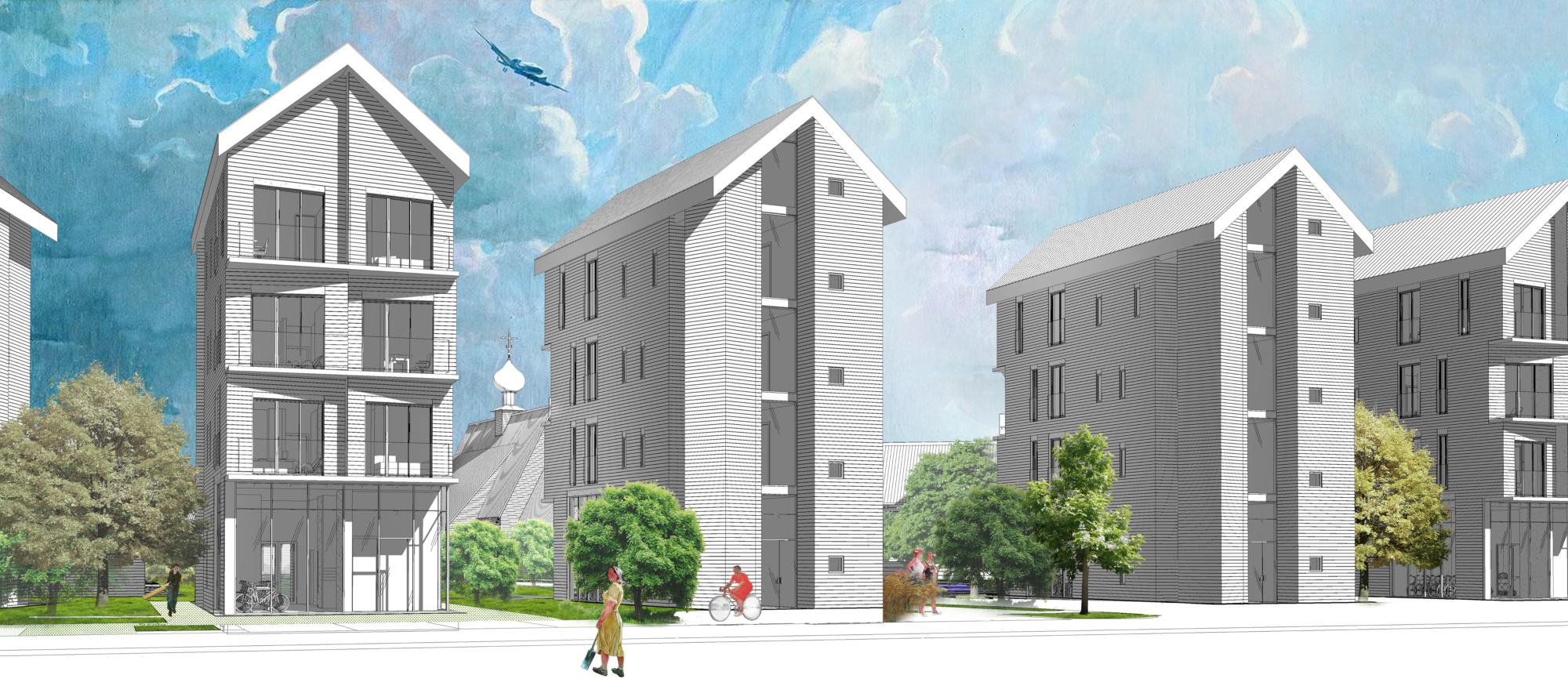 Архитектурная концепция стандартного малоэтажного жилья и жилой застройки. ©DMTRVK