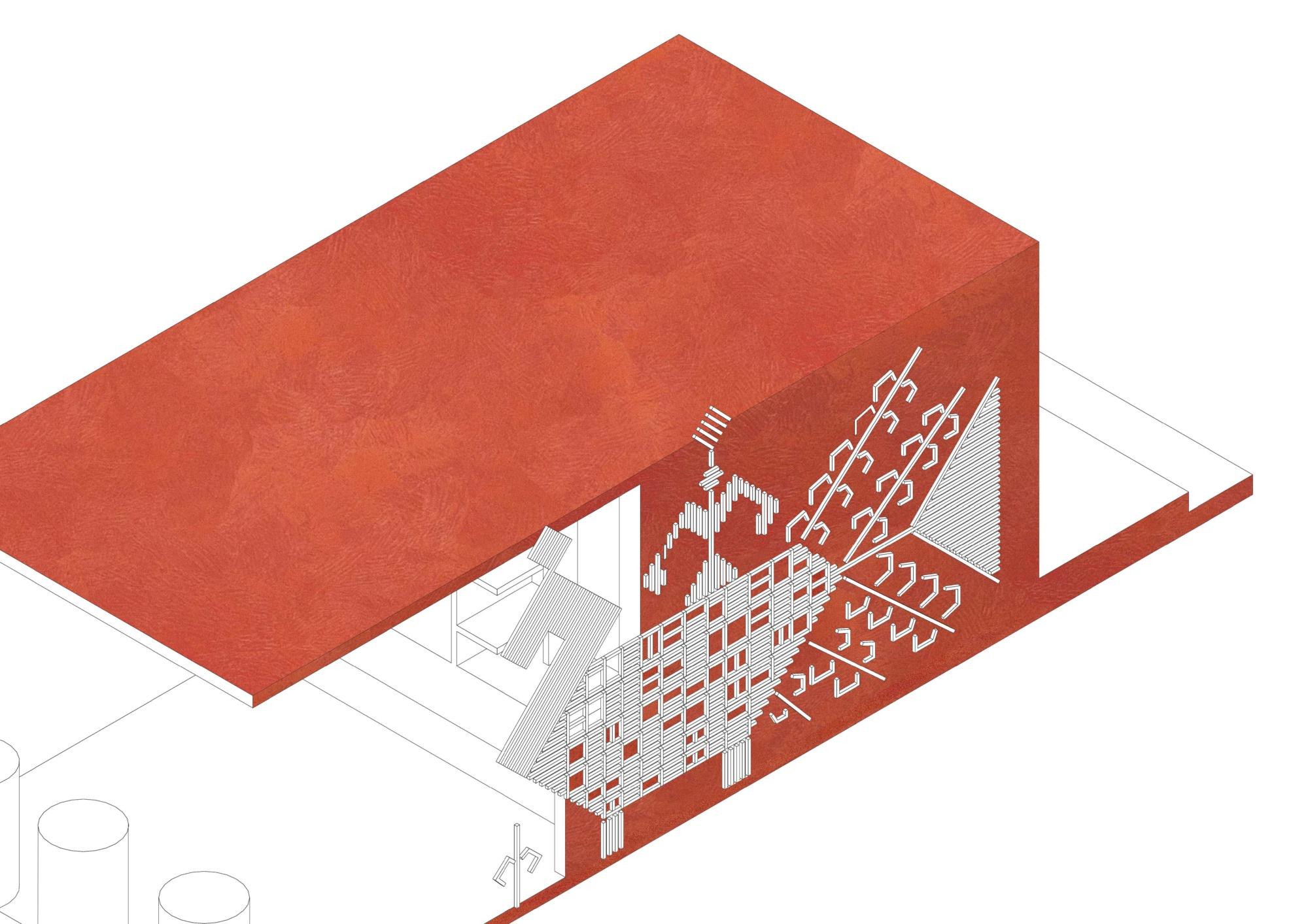 Архитектурная концепция торговых павильонов в селе Кубенском. ©DMTRVK