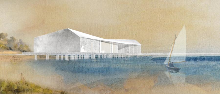 Архитектурная концепция Яхт-клуба в селе Кубенском. ©DMTRVK