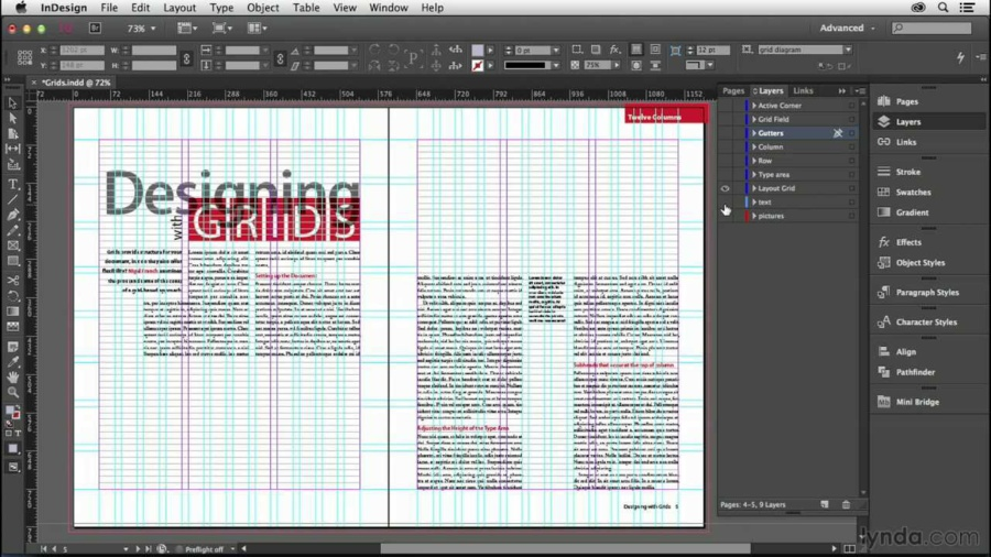 Adobe InDesign CC.