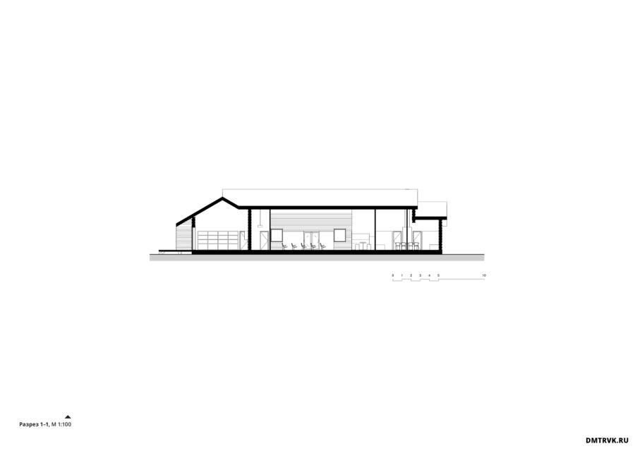 Реконструкция сельского центра в селе Косаричи. Компоновочный вариант 2. ©DMTRVK