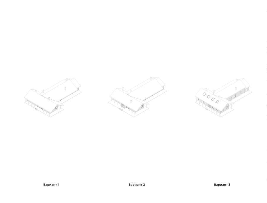 Реконструкция сельского центра в селе Косаричи. Варианты решений. ©DMTRVK