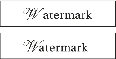"""Before applying the optical kerning option to the """"W"""" and """"a"""" pair (top), and after (bottom)."""