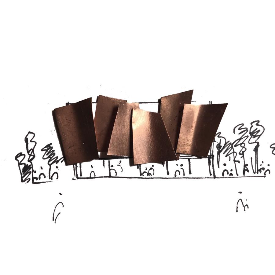Архитектурная концепция летнего кинотеатра Гараж, 2019