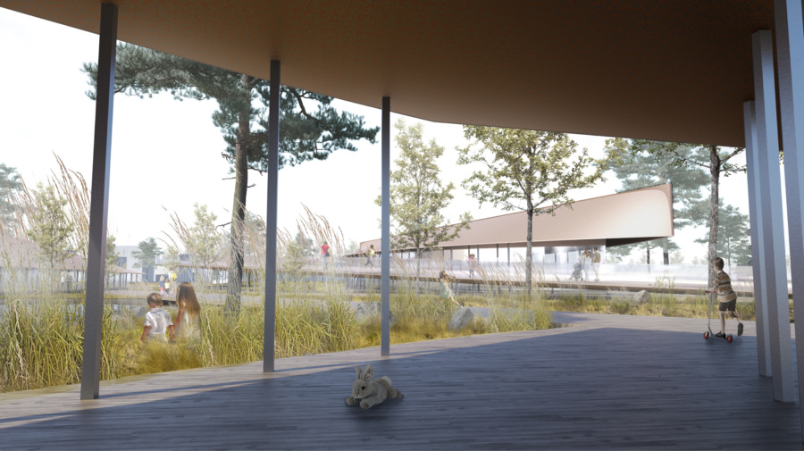 Проект Парка Молодёжи в г. Лянторе, визуализация. ©DMTRVK.RU