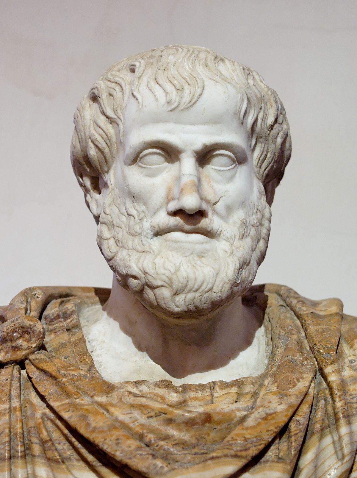 Бюст Аристотеля. Римская копия греческого бронзового оригинала (после 330 г. до н. э.). Автор оригинала — Лисипп