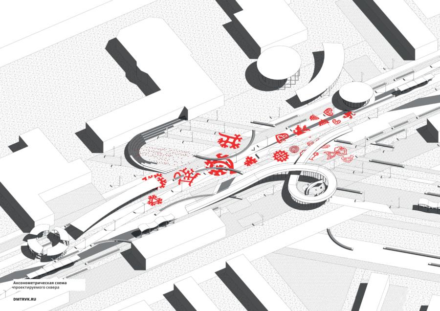 Сквер Дружбы народов. Проект. ©DMTRVK