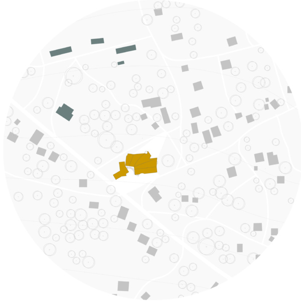 Site plan in Baghere village. / Women's House in Senegal. Kaira Looro architecture competition.