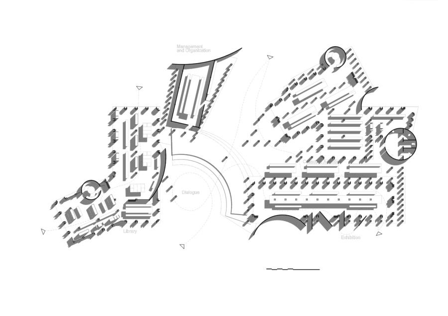 Main plan. Women's House in Senegal. Kaira Looro architecture competition.