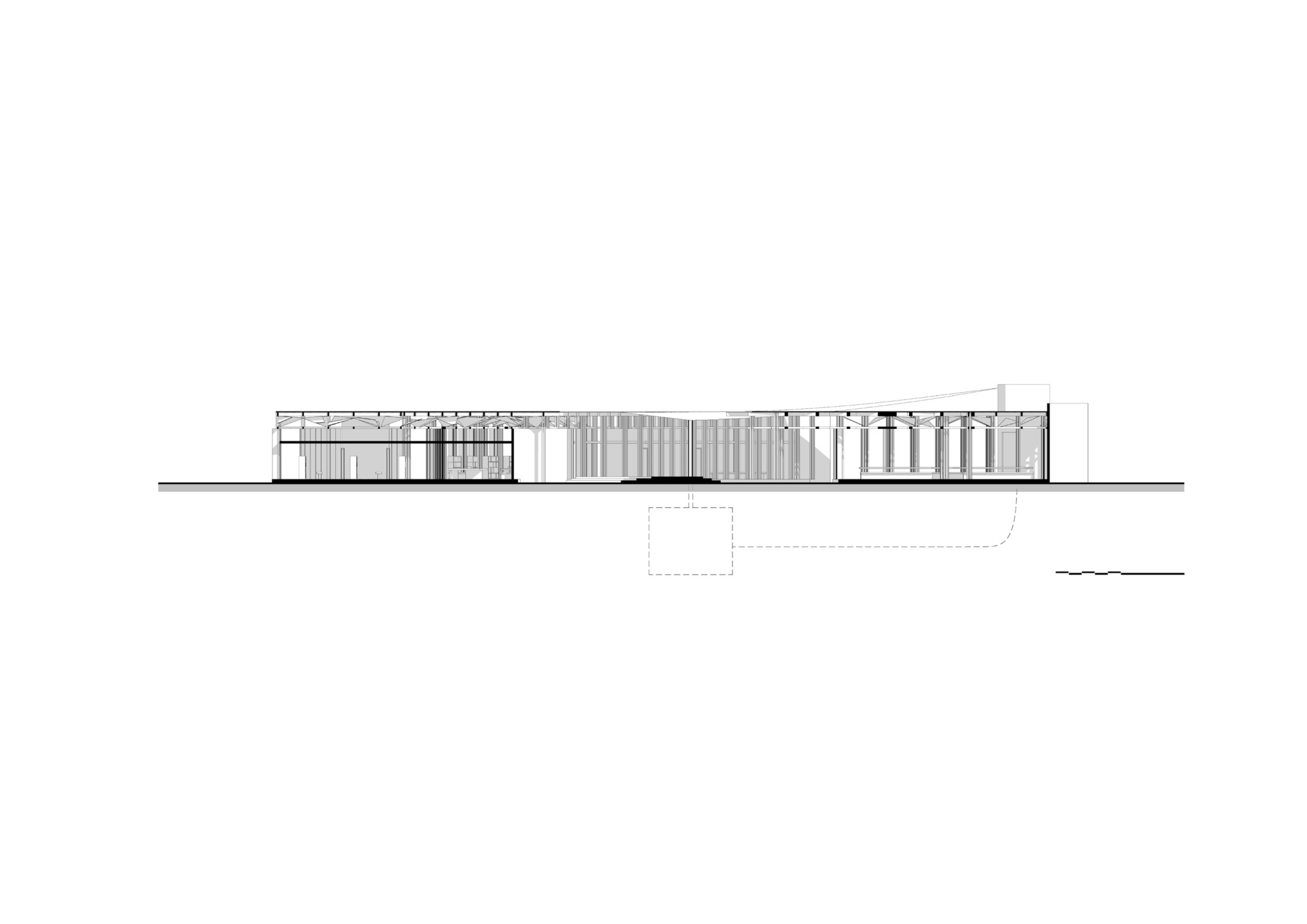 Section. / Women's House in Senegal. Kaira Looro architecture competition.